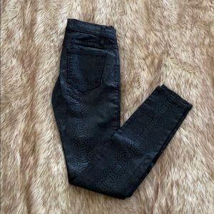 Bebe Snakeskin Icon Skinny Jeans